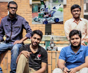BUET students with their Robot