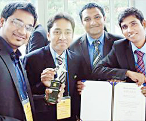 DU team wins the int'l competition