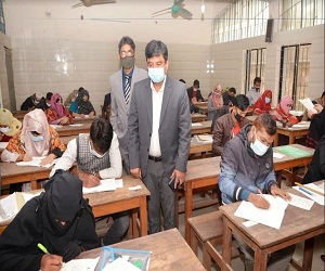 NU Pro-VC visited Exam Hall